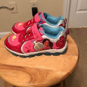 Little girls Elena of Avalor sneakers pink/glitter